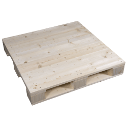 Palet de madera a 4 vías - Lado izquierdo cepillado