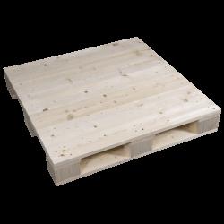 Palete de madeira de quatro entradas - Lado esquerdo aplainado