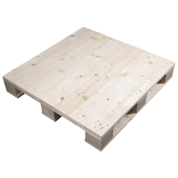 4 weg houten blok pallet - Hooggeschaafde zijde