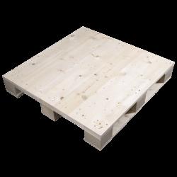 Palete de madeira de quatro entradas - Lado alto aplainado
