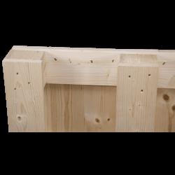 Palette en bois à quatre entrées - détail côté palette 1
