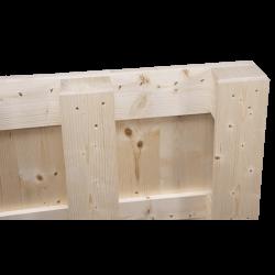 Palete de madeira de quatro entradas - detalhe lateral da palete 2