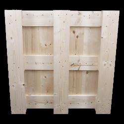 4 weg houten blok pallet - Onderkant van de pallet