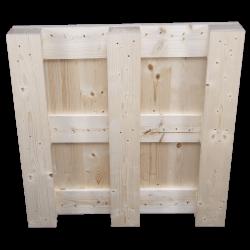 Palete de madeira de quatro entradas - Parte inferior da palete
