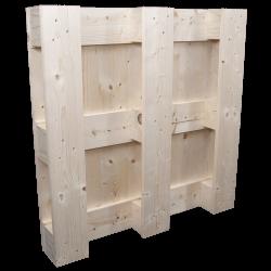 Palette en bois à quatre entrées - Dessous de la palette 3