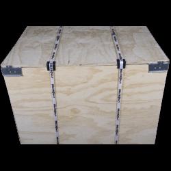 Detalhe frontal - Caixa de madeira compensada vtt