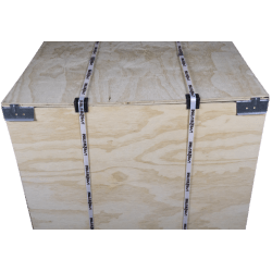 Detalle frontal - Caja de madera contrachapada vtt