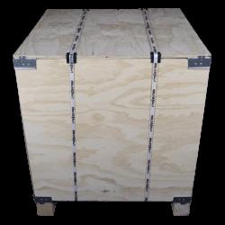 Frente - Caixa de madeira compensada vtt
