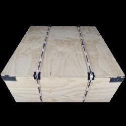 Détail avant - Boite en bois contre-plaqué vtt