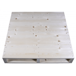 Frente cepillado alto - Palet de madera a 2 vías