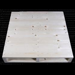 Façade haute rabotée - Palette en bois à deux entrées