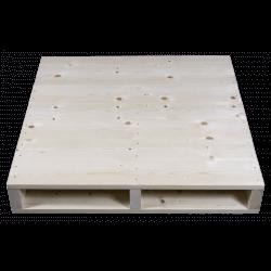 Frente aplainada - Palete de madeira de duas entradas