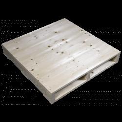 Côté raboté - Palette en bois à deux entrées