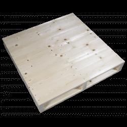 Côté gauche raboté - Palette en bois à deux entrées
