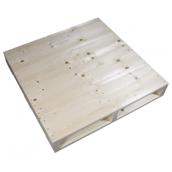 Linke Seite gehobelt - Zweiweg-Holzpalette pallet
