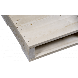 Left planed side detail - Two Way wooden pallet