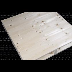 Do lado superior esquerdo planejado - Palete de madeira de duas entradas