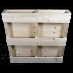 Plano de volta - Palete de madeira de duas entradas
