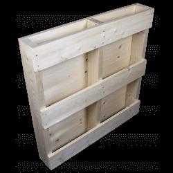 Lado plano traseiro - Palete de madeira de duas entradas