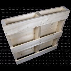 Lado esquerdo traseiro aplainado - Palete de madeira de duas entradas