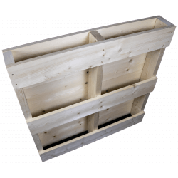 Linker achterkant geschaafd - Twee weg houten pallet