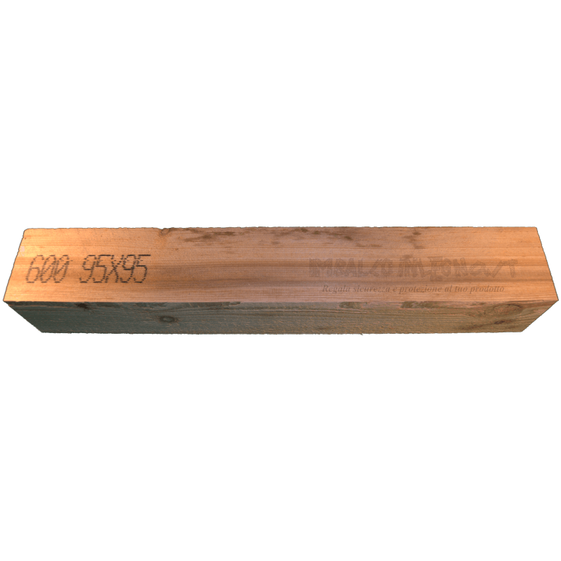 FrontaleWooden Beam 95x95mm - Front