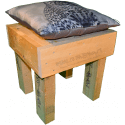 Pallet sedia - Laterale sinistro con cuscino