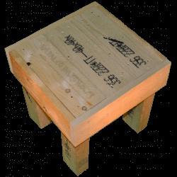 Pallet sedia - Laterale sinistro più alto