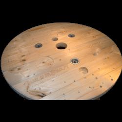 Bobine in legno per cavi (diametro 80cm) Nuova - Da vicino parte sopra