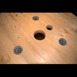 Bobine in legno per cavi (diametro 80cm) Nuova - Frontale da molto vicino