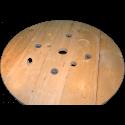 Bobine in legno per cavi (diametro 100cm) nuova - Tavolo da vicino