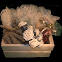 Cassa per fiori - Frontale con decorazione