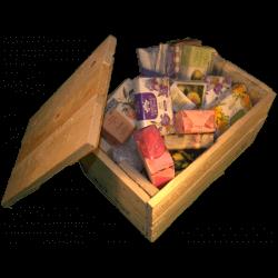 Cassa per regali - Laterale sinistro con composizione