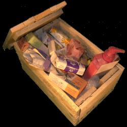 Cassa per regali - Laterale destro con composizione