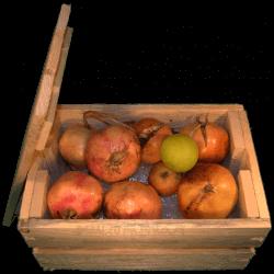 Cassa per fiori - Frontale con frutta