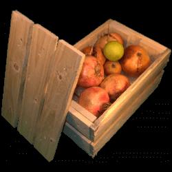 Cassa per fiori - Laterale sinistro con frutta