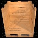 Cassa in legno - Frontale aperta