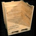Cassa in legno - Laterale aperta