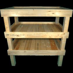 Pallet Kitchen Garden - Composition front shelves