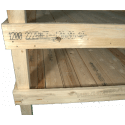 Pallet Orto - Composizione a ripiani laterale sinistro due