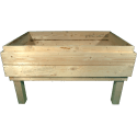 Pallet Kitchen Garden - front with two pallet collar (total internal hight 29cm)