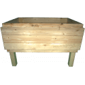 Pallet Kitchen Garden - front with three pallet collar (total internal hight 41cm)