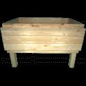 Pallet Kitchen Garden - front with three pallet collar (total internal hight 41cm)