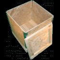 Cassa in legno osb pieghevole - Laterale coperchio aperto