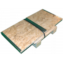 Cassa in legno osb pieghevole - Smontata laterale