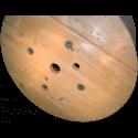 Bobine in legno per cavi (diametro 100cm) nuova - Facciata