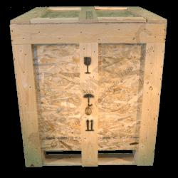 Caixa de madeira osb