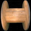 Bobine in legno per cavi (diametro 100cm) nuova - Lato corto frontale