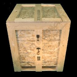 Cassa in legno osb - Frontale alto