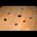 Bobine in legno per cavi (diametro 100cm) nuova - Tavolo da molto vicino